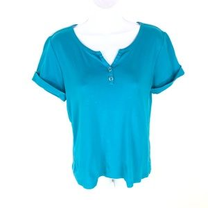 Chicos Womens Blue Top M